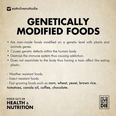 Do not consume genetically modified foods. They are acid forming. #gmo #foods #behealthy #nosweets #glutenfree #hungry #eat #fruits… Health Facts, Health And Nutrition, Health Tips, Health And Wellness, Health Book, Nutrition Education, Healthy Life, Healthy Living, Vegan Life
