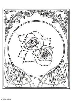 mandala kleurplaten rozen
