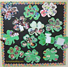Lucky Family Project: Send a Shamrock shape home and have families work together to decorate the Shamrock. Printable and everything you need is here from Sunny Days in Second Grade. March Crafts, St Patrick's Day Crafts, Spring Crafts, Holiday Crafts, Daycare Crafts, Fun Crafts, Spring Activities, Holiday Activities, Classroom Activities