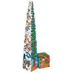 $20 Tallest Tree Stacking Blocks - Paperboard blocks that nest and stack