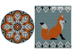 PATTERN: Fox Set of wayuu mochila patterns wayuu bag Mochila Crochet, Snowflake Template, Tapestry Crochet Patterns, Fox Decor, Beaded Boxes, Tapestry Bag, Fox Pattern, Crochet Cross, Yarn Bombing