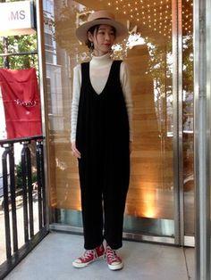 モリユキ│Ray BEAMSのサロペット/オーバーオールコーディネート