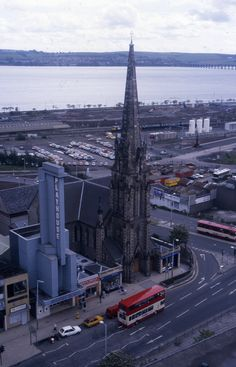 View from the Steeple church in Dundee, Over looking Meadowside St Paul and the Playhouse Online Scrapbook, Dundee, Play Houses, History, City, Places, Modern, Travel, Voyage