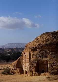 Saudi Arabia.  Madain Saleh grave. Unesco World heritage site | Flickr by Eric Lafforgue