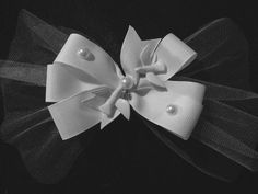 Wedding hair Bow by HelgasHairBowDesigns on Etsy