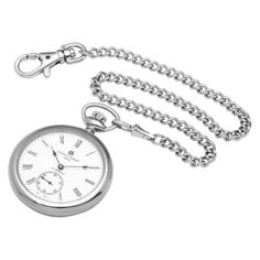 Charles-Hubert, Paris Open Face Mechanical Pocket Watch Charles-Hubert, Paris. $156.00. 17 jewel mechanical movement. White dial with roman numerals. Deluxe gift box. Stainless steel 51mm open face case with a matching curb chain. Save 34% Off!