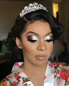 Black Wedding Makeup, Bridal Hair And Makeup, Bride Makeup, Prom Makeup, Eyebrow Makeup, Wedding Beauty, Wedding Bride, Dream Wedding, Day Makeup