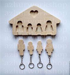 Купить Семейная ключница - коричневый, ключница, ключница ручной работы, ключи, ключик, ключики, для ключей