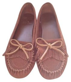 Lucky Brand Mocassins Fringe Brown Flats