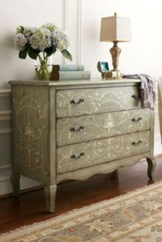 Cecilia Three-drawer Chest - Hand Painted Chest, 3 Drawer Chest, Antique Wooden Chest | Soft Surroundings