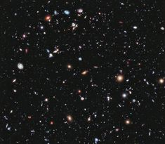 You perhaps know of the Hubble Deep Field. Well, this is the Hubble eXtreme Deep Field (XDF), covering a view into an 'empty' window of space a very small fraction of the angular diameter of the Full Moon, toward the constellation Fornax. This is the deepest image of the Universe yet taken. There are about 5,500 galaxies in this image! The faintest galaxies are one ten-billionth the brightness of what the human eye can see. The XDF reveals galaxies that are 13.2 Billion light years from…