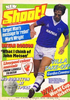 April 1985-Shoot Football Cards, Football Players, World Cup Tickets, Bryan Robson, Mark Wright, Everton Fc, Sd, Magazines, Goal