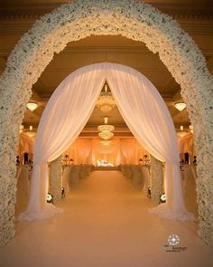 Book rose stylists or other wedding decorators, flower decorators Wedding Isle Decorations, Stage Decorations, Wedding Backdrops, Wedding Entrance, Entrance Decor, Wedding Church, Wedding Halls, Wedding Background, Event Ideas