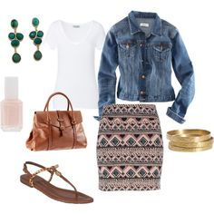 Love anything with a jean jacket.  Need a tribal skirt...