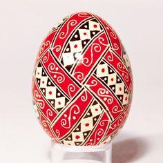red white black egg