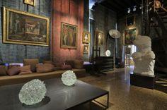 Ritsue Mishima's glass, exhibited at Palazzo Fortuny, 2014. Photo:Francesco Barasciutti.