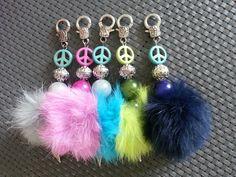 "Charm ""Peace mit Puschel"" ♡HANDMADE BY EMMA PEARLS♡"