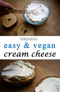guidance and delicious vegan recipes designed for quick weight loss and health benefits? I will teach you everything I know that has helped me and countle Vegan Cheese Recipes, Vegan Cream Cheese, Cream Cheese Recipes, Delicious Vegan Recipes, Dairy Free Recipes, Raw Food Recipes, Yummy Food, Cream Cheese On Toast, Vegan Snacks