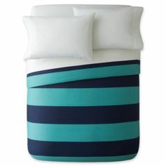 JCP rugby stripe duvet cover