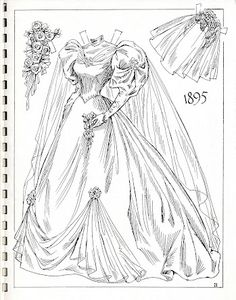 Historical fashion coloring pages download and print for