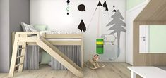 9 things you need to know before buying a loft bed- 9 Dinge, die du wissen musst, bevor du ein Hochbett kaufst Loft bed with slide – everything you need to know! – what leo loves - Big Boy Bedrooms, Baby Boy Rooms, Kids Bedroom, Playroom Design, Kids Room Design, Toddler Rooms, Kid Beds, Cheap Home Decor, Kids Furniture