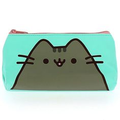 Official Pusheen Cat Design Pencil Case Party Gift School Home Stationery Green Aqua  This pencil case is not only cute, but very practical too.  Made from soft but durable PU, it's a very generous size to fit all the stationery you need inside.  It has a pink zip at the top and is lined inside with co-ordinated pink material.  It has Pusheen images on both sides.  Size: H11cm x W22cm or H4.3 x W8.6 inches