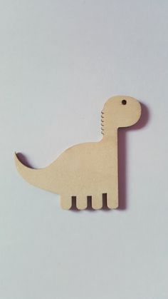 10 x Blank Wooden Craft Shapes - 70mm - Dinosaur (With FREE Jute!)