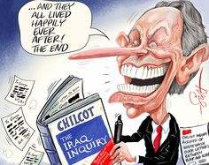 The Chilcot - The Iraq Inquiry, Tony Blair, and massive redactions.  Scott Clissold - Sunday Express.  http://www.ellwoodatfieldgallery.com/  Political cartoonist of the year 2014 and assassins: when cartoonists hit their mark @EA Gallery