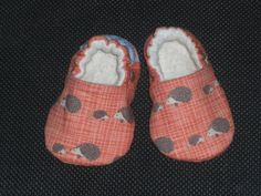 Buy Now Baby Shoes Baby Slippers Hedgehogs orange Cotton...