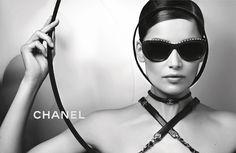 Laetitia Casta photographed by Karl Lagerfeld for Chanel Eyewear campaign #ChanelEyewear Visit espritdegabrielle.com | L'héritage de Coco Chanel #espritdegabrielle