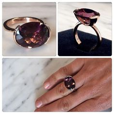 Pink tourmaline and 18ct rose gold Embrace ring by Lizunova Fine Jewels, a Sydney jewellery designer