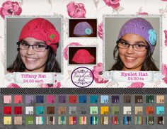 Tiffany Lace and Eyelet Lace Hats by LovewhorlsKnits on Etsy