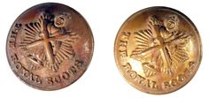 WORLD WAR I & II. KINGS CROWN THE ROYAL SCOTS REGIMENT TUNIC BUTTON. #103