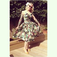 Handmade vintage inspired gathered skirt and beach top by BooBoo Kitty Couture!