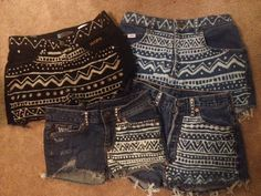 Aztec high waisted shorts