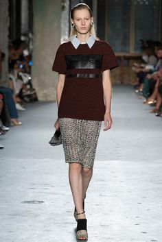 Crochet top! Crochet skirt! Crochet bag! Crochet is here to STAY. Proenza Schouler NYFW S15 RTW