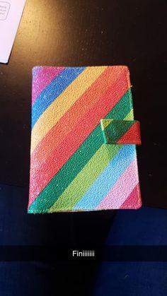 Portefeuille Compère à rayures colorées cousu par Marlène - Patron Sacôtin