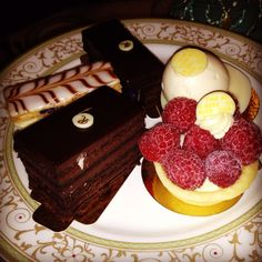 Desserts from high tea at the Ritz in London - y u m