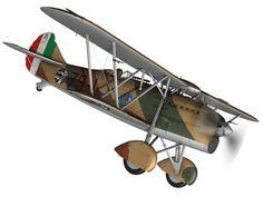fiat cr 32 - italy airforce - 79 squadriglia 3d model obj fbx c4d lwo lw lws 8