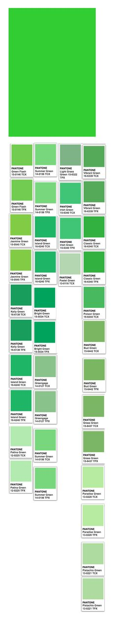 Spring Green (web) and Pantone related colors
