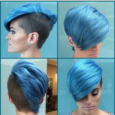 Not this color but thinking red. Also my hair in the back is not as long. Only the long bangs and right side.