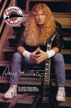 Love this ad.  Old Skool Dave Mustaine & Jackson King V Pro.