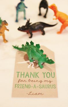 Dinosaur Valentine! Thank you for being my friendasaurus!
