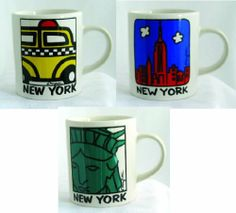 New York Demitasse Espresso Mug Souvenir Gift Set of 3: Taxi, Statue of Liberty, NY Skyline, Ceramic New York Mini Mug Espresso Cups with Artwork By Mary Ellis by Fifth Avenue Manufacturers. $16.99. High quality white ceramic. High Quality Screen Printing on both sides of each espresso mug. 4 Oz demitasse mini mugs are great for espresso or liquor. Beautiful and Brightly Colored New York pop art souvenir designs by Mary Ellis. Makes a thoughtful collectible New Yo...