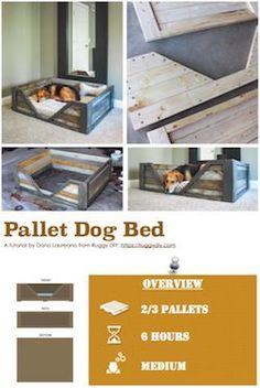 Diy Pdf Tutorial Pallet Dog Bed 1001 Pallets Free Download Pallet Dog Beds Dog Bed Diy Dog Crate