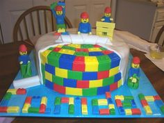 Oh, mother!  Can you please get on Pintrest so you know what you are helping me make!!!  LEGO Cake