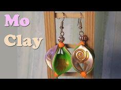 Orecchini mobius e stamping - Polymer clay earrings tutorial - Pendientes en arcilla polimerica - YouTube