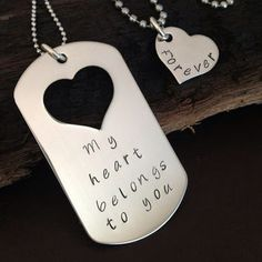 engraved dog tags for boyfriend - Google Search