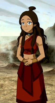 Katara in Fire Nation clothing