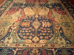 Gorgeous flatweave rug with warm tones of red, blue, green and gold, 12x18